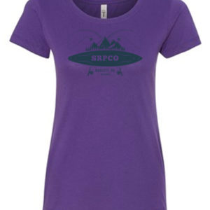 Ladies SRPCO Purple Crew Neck T-Shirt