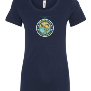 Women's Navy Crew Neck T-Shirt