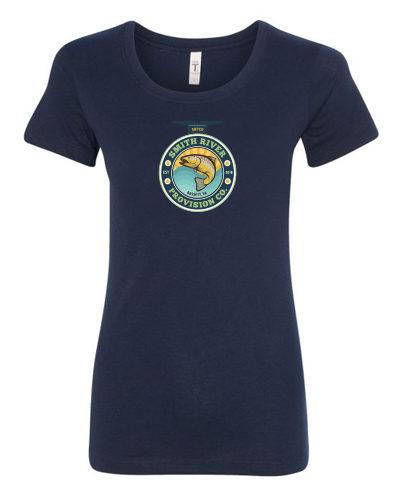 Women's Navy Crew Neck T-Shirt